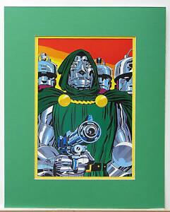 DOCTOR DOOM Pinup Poster 1978 Marvel FANTASTIC 4 MATTED