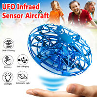 Mini UFO Drone RC Infrared Sensor Induction Aircraft Quadcopter Flying Ball Toy