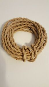 32.8ft 18/2 Twisted Electric Rope Light Cord, New Antique Industrial