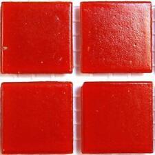 vitrifiée verre mosaïque Tuiles 20mm - Rouge