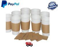 10-2000 Coffee cup Brown Sleeves Kraft Cardboard Paper cups 8,12,16oz Hot Cups