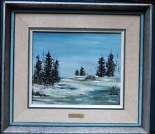 Cecyl Morais  Oil Painting on canvas - Winter scene