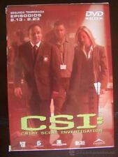 DVD CSI SEGUNDA TEMPORADA EPISODIOS 13-23 (6L)