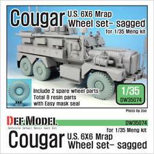 Def. modelo, EE. UU. Cougar 6x6 MRAP hundida juego de ruedas, DW35074, 1:35