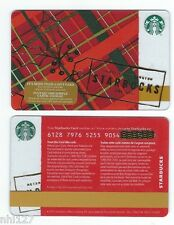2016 Starbucks CHRISTMAS HOLLY CANADA RELOADABLE GIFT CARD
