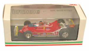 Brumm Ferrari 312 T4 French GP 1979 - Gilles Villeneuve 1/43 Scale with driver