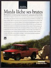 1994 MAZDA Pickup B Vintage Original Print AD - red car photo Rhinoceros french