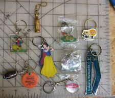 Vintage Key chain Lot of 10 1980s 1990s Retro Souvenir Etc