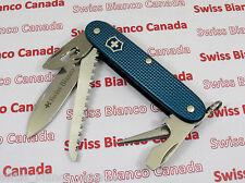 Swiss Bianco Exclusive Victorinox Farmer Teal Blue Alox Swiss Army Knife