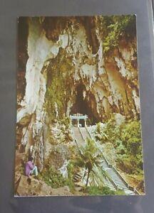 Old vintage Malaysia post card batu cave