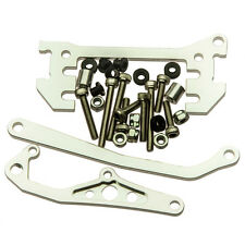 1 Set Alum. Chassis Mounted Servo Panhard Bar For Axial Crawler SCX10 Silver  US