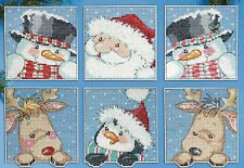 Cross Stitch Kit ~ Design Works 6 Funny Friends Christmas Ornaments PC #DW1657