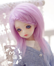 "New 4-5"" 12cm Sweet Purple long straight BJD Wig 1/12 PULLIP BJD Doll Hair wigs"