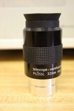 "Telescope Warehouse 1.25"" 32mm Super Plossl Eyepiece - High Quality Optics"