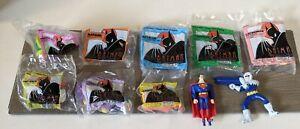 Batman toys McDonald's Happy meal complete set with Superman Mr freeze lot of 10