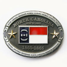 Men Belt Buckle NC Oval Star Flag Belt Buckle Gurtelschnalle also Stock in US