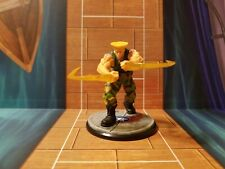 Street Fighter Miniatures Game Guile Figure and Cards  ~Free Shipping~