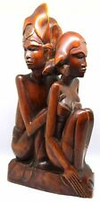 Vintage Art Deco Balinese Wood Carving: N.E.I., S.S.S.