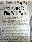 3 1955 newspapers ELSTON HOWARD 1st African-American toPLAY for NEW YORK YANKEES