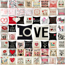 Pillow Cases Linen Throw Cushion Pillowcase for Valentine Gift Sofa Home Decor