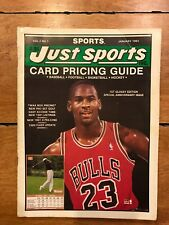 1991 JUST SPORTS BASKETBALL CARDS PRICE GUIDE MICHAEL JORDAN on Cover
