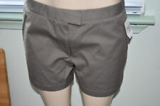 $75. New DKNY Velcros Waist Zippers Taupe Brown Dressy Casual Shorts 12