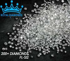 100% Natural Loose Round Single Cut 200 Diamonds FL-SI2 D-H(White) Star Polished