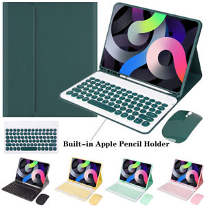 """For iPad 5th 6th 7th 8th Gen 10.2"""" Bluetooth Keyboard Mouse Leather Case Cover"""