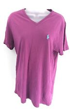 RALPH LAUREN Mens T Shirt Top M Medium Purple Cotton