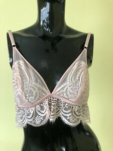 Ted Baker New Pink Cuff Lace Triangle Bralette 14