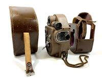 Vintage Rare 1940s Revere Eight 8mm Movie Camera Model 88 w/ Brown Leather case!
