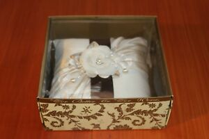 BEVERLY CLARK CHANTILLY LACE IVORY RING BEARER PILLOW NEW IN BOX