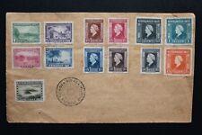 NEDERLANDS INDIE 1946 Philatelistische brief met NVPH 304/16 speciaal stempel