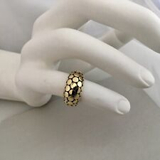 JOHN HARDY DOTTED 18 k GOLD & STERLING SILVER DOME RING SIZE 7