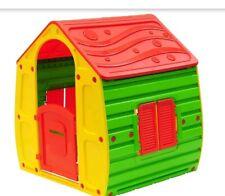 Casetta in Resina Plastica per Bambini da Giardino Esterno Giocattolo Bimbi PVC.
