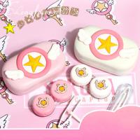 Anime Card Captor Sakura Contact Lens Box Contact Eyeglass Case Cute Pink Gifts