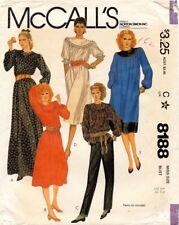 1980's VTG McCall's Misses' Dress Pattern 8188 Size 12 UNCUT