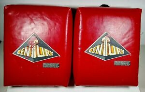 2 Lot Used Century Red Kick Strike Training Pads Karate MMA Kick Boxing