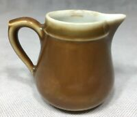 Vintage Brown & White Creamer Syrup Server