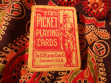 Antique Deck Playing Cards Picket 515 1914-18 WWI doughboy Rare Red Vintage