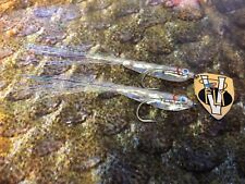 2 V Fly Size 2 Ultimate Silver Surf Softy Sandeel Bait Fish Saltwater Flies