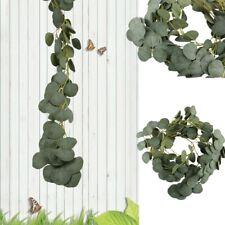Artificial Greenery Eucalyptus Garland Faux Vine Leaves Eucalyptus Garland Green