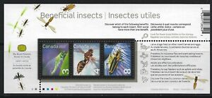 CANADA - #2409b - BENEFICIAL INSECTS SOUVENIR SHEET (2010) MNH