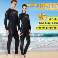 3mm Neoprene Diving Suit Full Body Scuba Wetsuit Surf Swimming Jumpsuit Adults