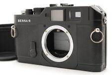 """""""NEAR MINT-"""" VOIGTLANDER BESSA R Black RANGEFINDER Film Camera from Japan"""
