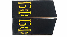 Navy-Baltic Russian USSR Red Army Black Shoulder Boards Epaulets B-7