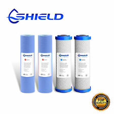 2 Set Replacement Water Filters Cartridges Sediment +  0.5 Micron Coconut Carbon