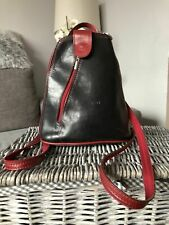 Vintage Italian Leather Cuoieria Fiorentina Rucksack Backpack Shoulder Bag small