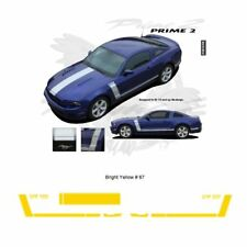 Ford Mustang 2013+ GT Style Hood and Side Stripes Graphic Kit - Bright Yellow