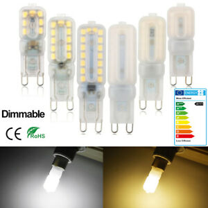 10Pcs G9 LED Light Bulbs 3W-7W Dimmable Capsule Warm Cool White Home Bright Lamp